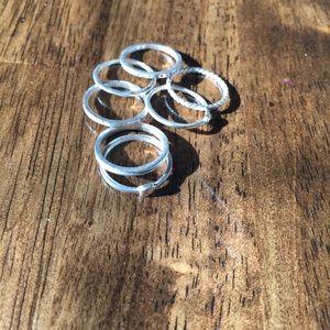 .925 Lucky 7 Stella & Dot rings sz 6